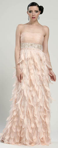 Pink Wedding Dress Feathers : Feather gown sz unique vintage prom dresses wedding